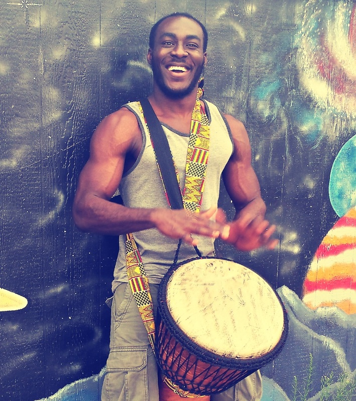 African drumming workshops and drumcircle in Colorado and Manitou Springs with Nii Bortey
