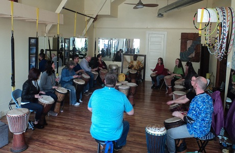 African drumming workshop for schools, corporate team building, community and wellness events. - http://www.soulrhythmafricandrumming.com/workshops.html